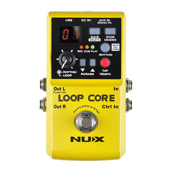 NUX Loop Core Guitar Effect Pedal 6 Hours Recording Time+Free 9V Powe