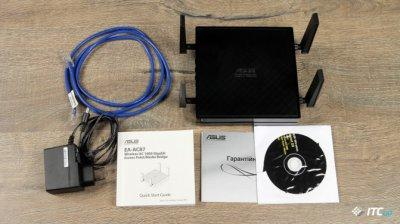 NW. ASUS ACCESS POINT WIFI AC1734 MEDIA BRIDGE AC1800 5.0GHZ EA-AC87