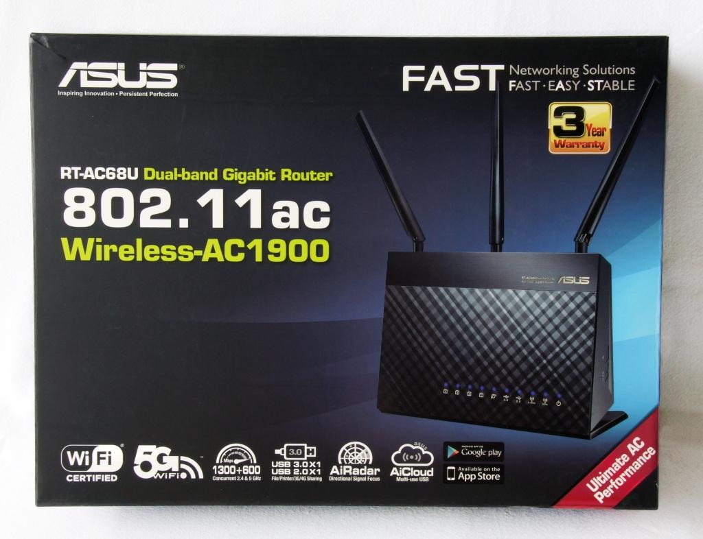 NW. ASUS ROUTER WIFI GIGABIT N600MBPS DUAL BAND AC1900 RT-AC68U
