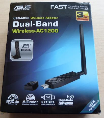 NW. ASUS WIFI USB ADAPTER N300MBPS WITH 2 ANTENNA USB-N14