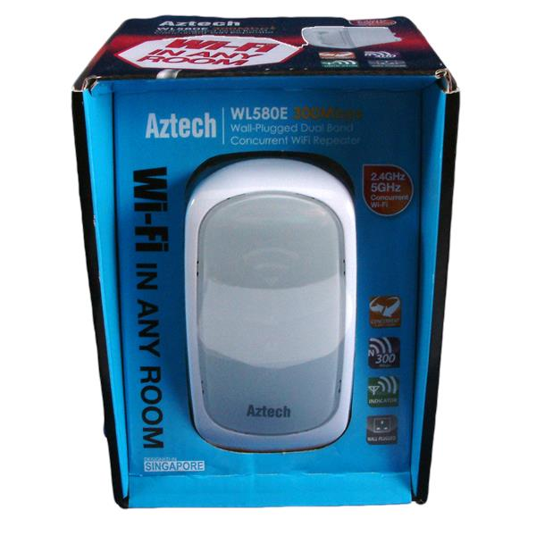 NW. AZTECH RANGE EXTENDER WIFI N300MBPS DUAL BAND CONCURRENT WL580E