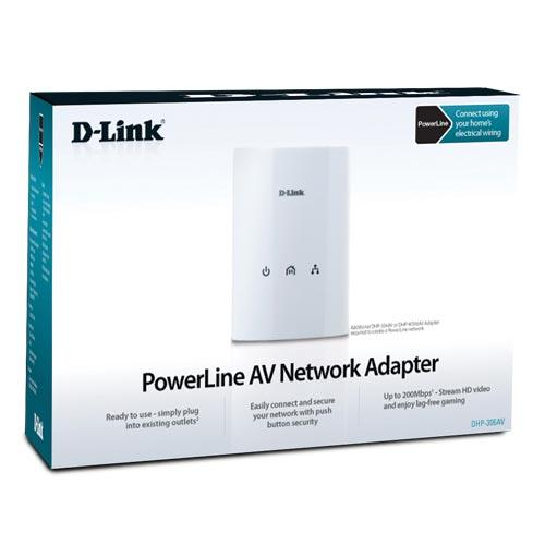 NW. D-LINK HOME PLUG WIRED 500MBPS DHP-308AV