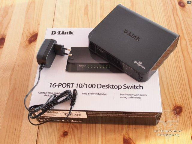 NW. D-LINK NETWORK SWITCH 16 PORT STD DES-1016A