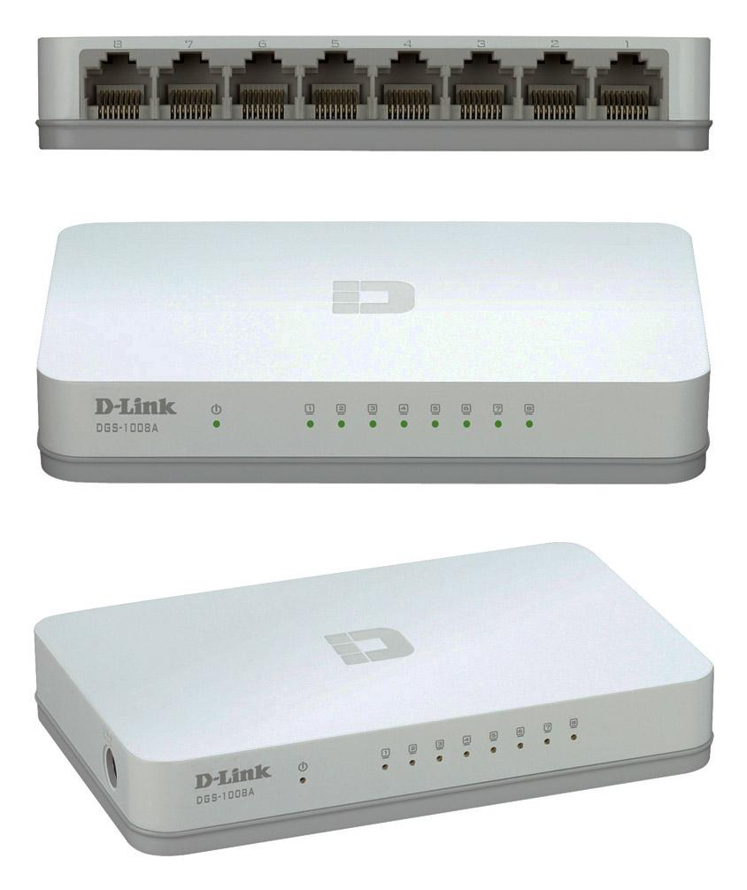 NW. D-LINK NETWORK SWITCH 8 PORT GIGABIT DGS-1008A
