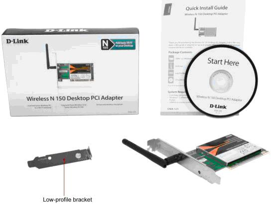 NW. D-LINK WIFI PCI ADAPTER CARD N150 DWA-525