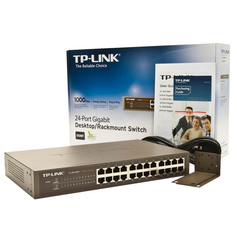 NW. TP-LINK NETWORK SWITCH GIGABIT 24 PORT TL-SG1024D
