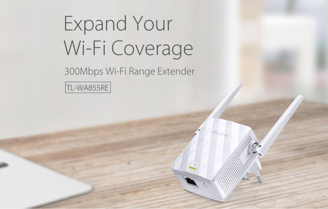 NW. TP-LINK RANGE EXTENDER WIFI N300 WITH ANTENNAS TL-WA855RE