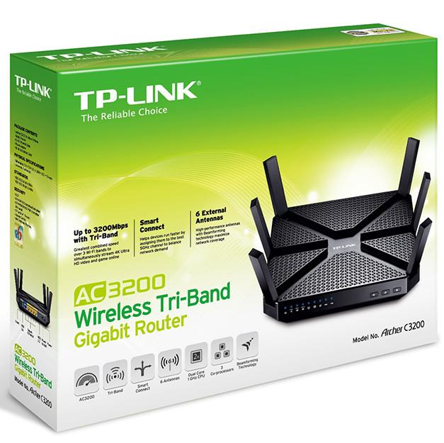 NW. TP-LINK ROUTER WIFI GIGABIT N600 TRI-BAND AC3200 TL-ARCHER C3200