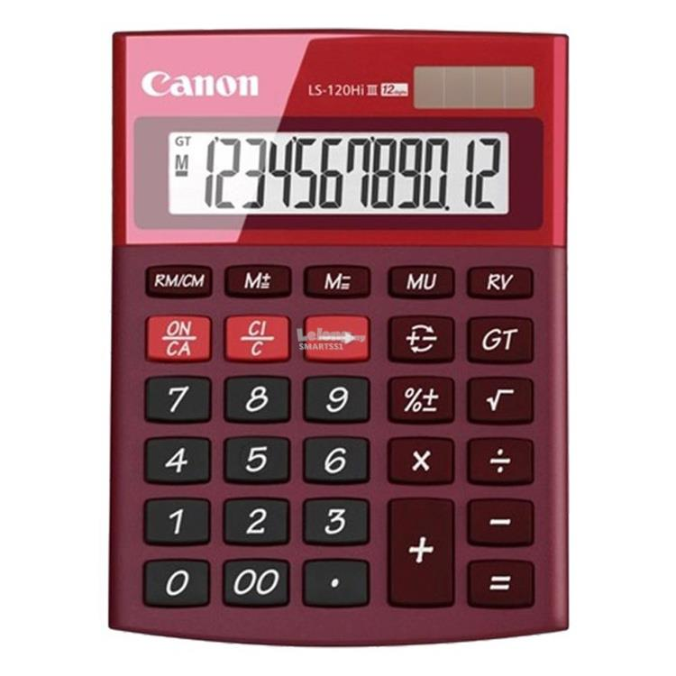 OA. CANON CALCULATOR 12 DIGITS LS-120HI III