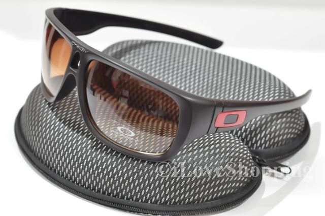 OAKLEY DISPATCH DUCATI~MATT BLACK/BROWN MIRROR~FREE OAKLEY CASE~IOK844