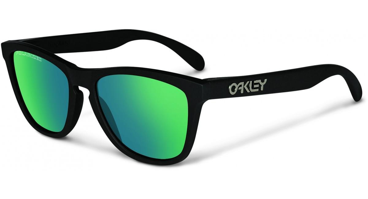 are oakley sunglasses polarized  oakley frogskins black emerald polarized sunglasses oo9013 24 404