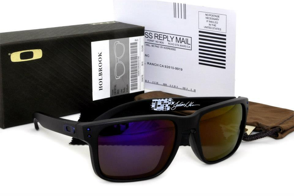 Oakley Holbrook Julian Wilson Signature New Series -Blackmatte/Purple ..