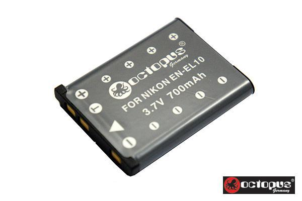 Octopus EN-EL10 Battery Nikon CoolPix S Series S7000 S600 S510 S210