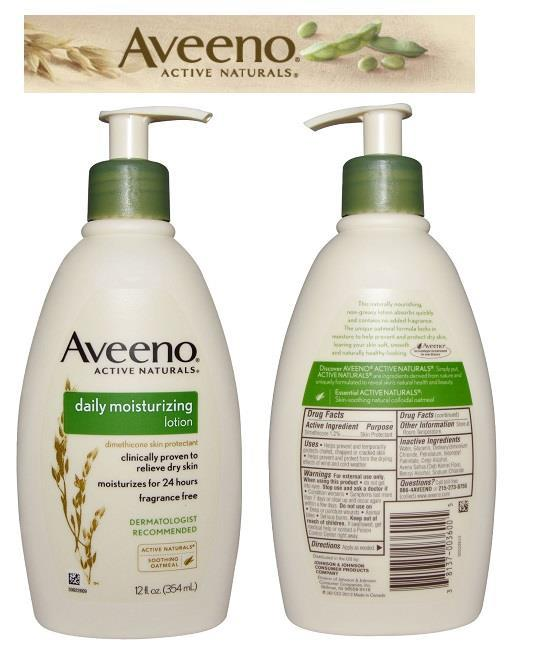 OFFER!! Aveeno, Daily Moisturizing Lotion 354g (Smooth Like Baby Skin)