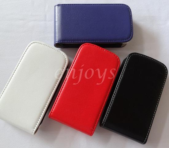 OFFER** Colorful Leather Flip Pouch for Samsung E2652W Champ Duos ~NEW