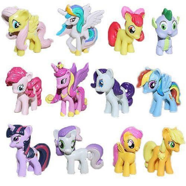 OFFER.!!! My Little Pony mini figure. Cake Topper. (12pcs in 1). New