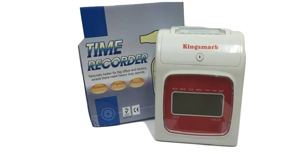 OFFICE TIME CLOCK RECORDER MACHINE WITH 3 YEARS WARRANTY