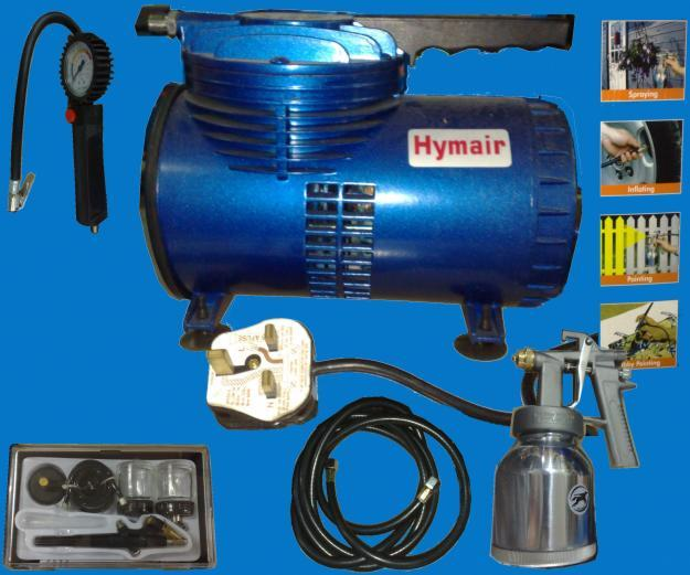 Oil-less Mini Air Compressor c/w Air Brush & Set (airbrush compressor)