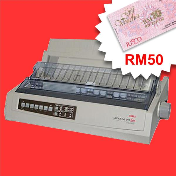 OKI ML391T Plus - A4 24-Pin printer Parallel & USB *FREE RM50 AEON*