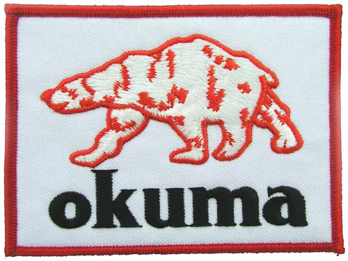 OKUMA FISHING SPORTS EMBROIDERED PATCH #2