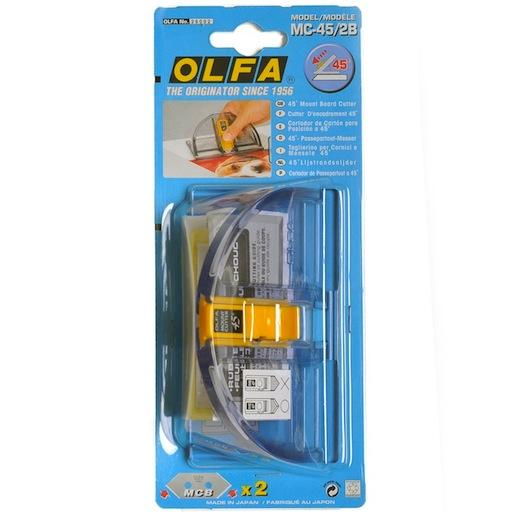 Olfa MC-45/2B Mat Cutter 45 Degrees (With 2 Blades)