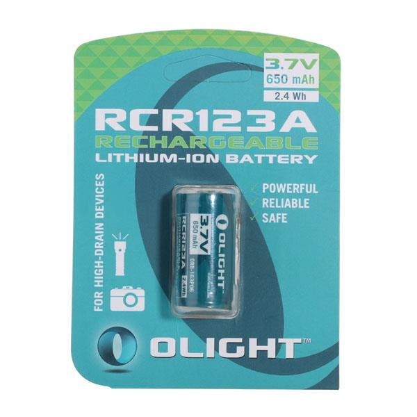 OLIGHT PROTECTED 650 MAH 3.7V RECHARGEABLE 16340/RCR123A Battery