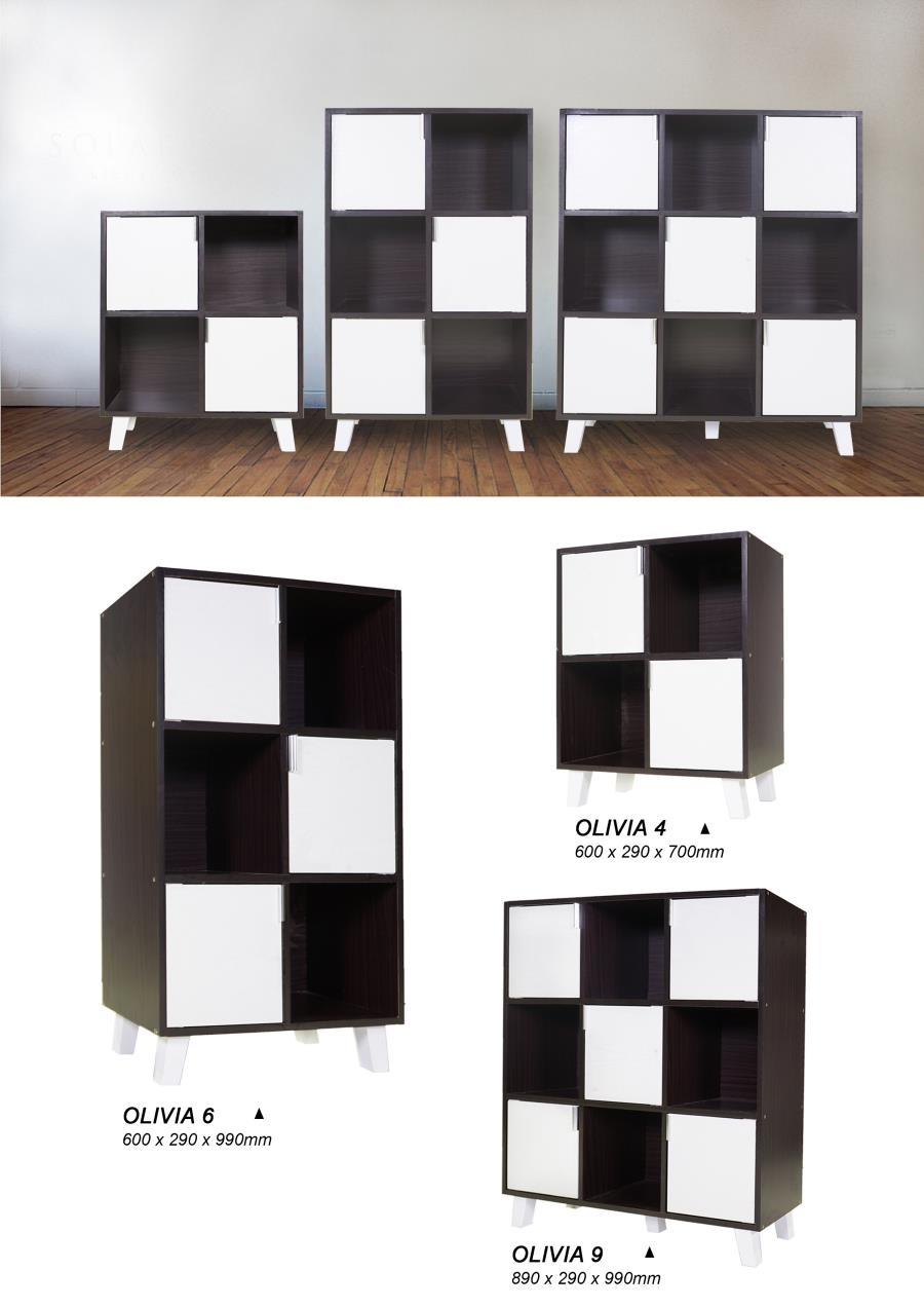 OLIVIA 4 CUBES BOX CABINET STORAGE BOOKSHELF RACK DISPLAY WOODEN