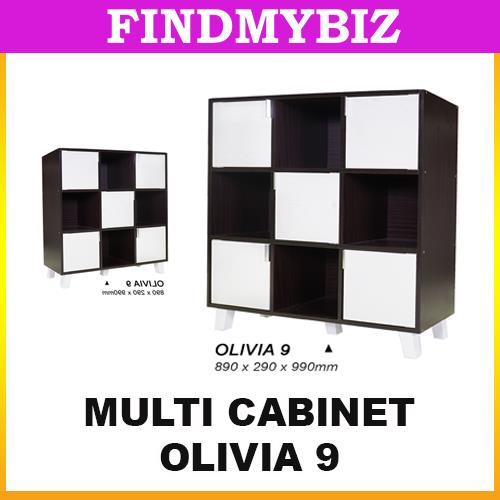 Olivia 9 cubes box cabinet storage bookshelf rack display wooden