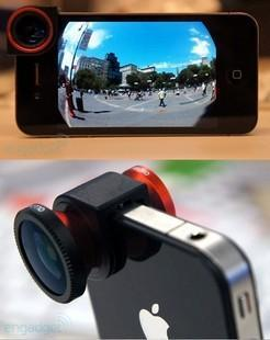 Ollocllp 3-in-1 Lens for iPhone 4/4S, MACRO ,FISH EYES, WIDE ANGLE EFF..