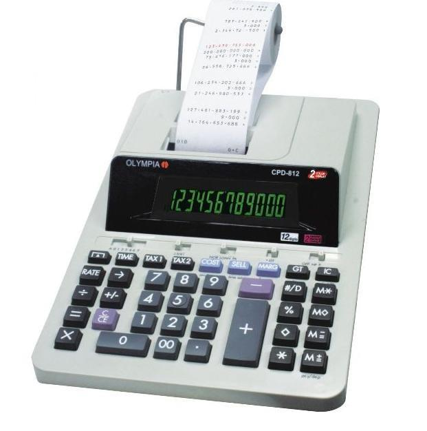 Olympia Printing Calculator CPD-812