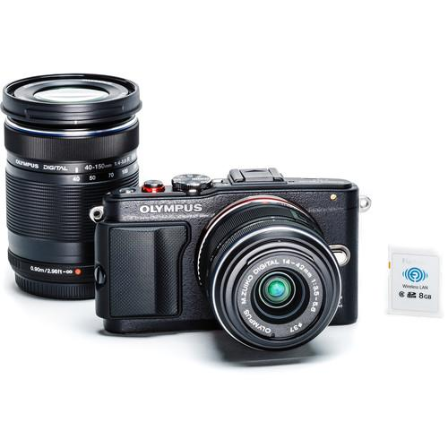 OLYMPUS PEN E-PL6 WITH 14-42MM + 40-150MM DUAL LENS