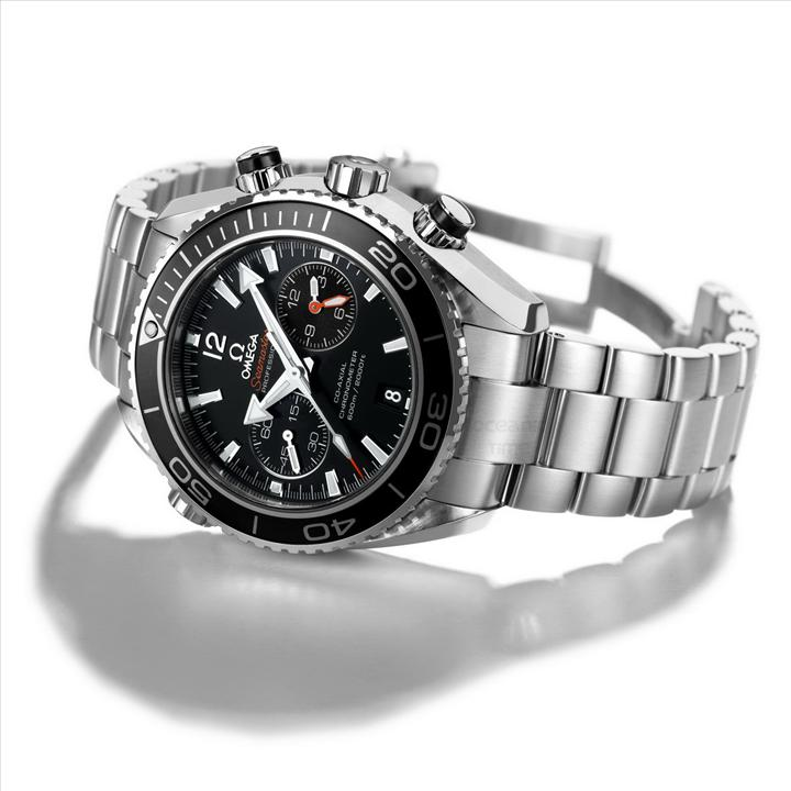 OMG Seamaster Planet Ocean Chrono Automatic Diving Watch-BLACK