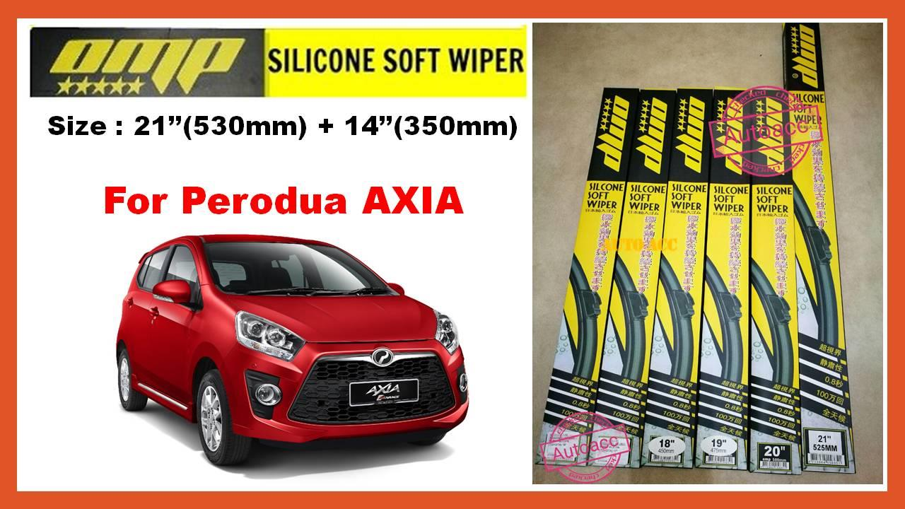 OMP Silicone Soft Wiper For Perodua AXIA 21'+14' [1set 2pcs]