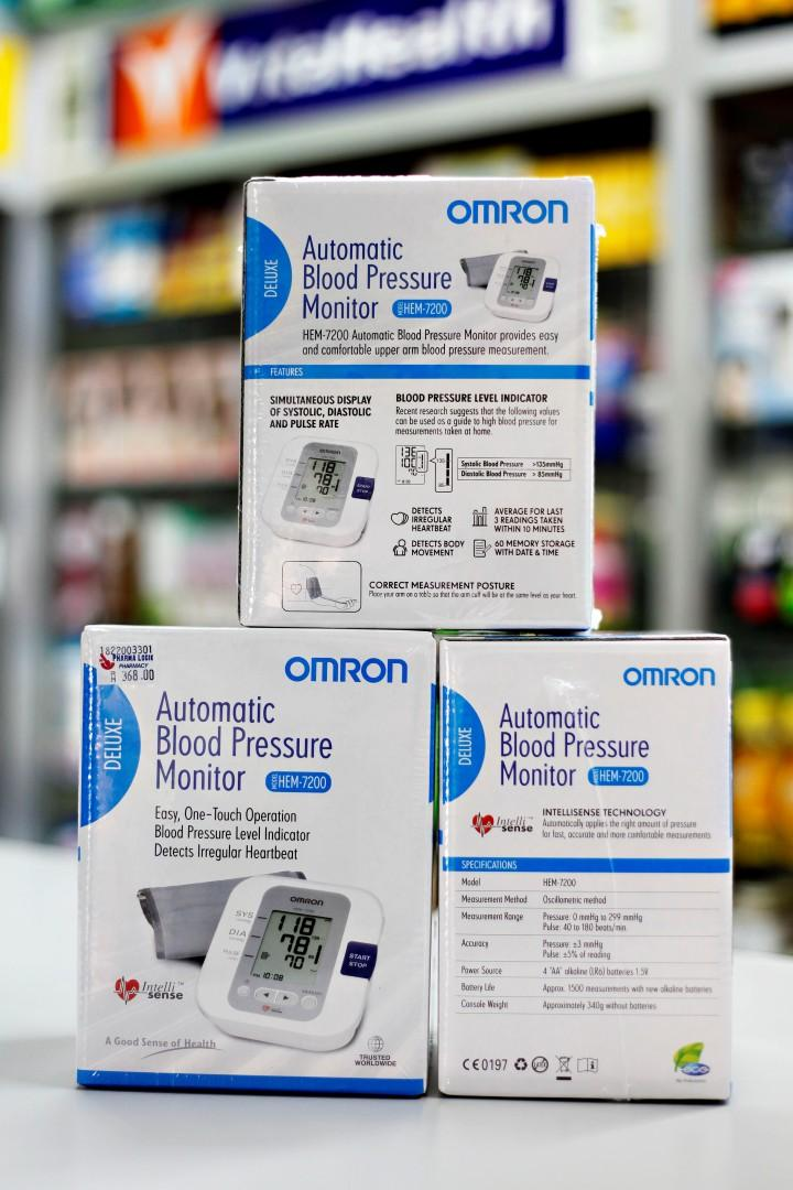 New Omron HEM-7200 Automatic Blood Pressure Monitor (3 years warranty)