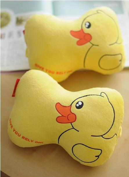 One Pair of The Big Yellow Duck Car Headrest Pillow