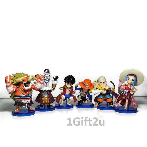One Piece 6in1 Series 3 Collectible Mini Action Figure Set