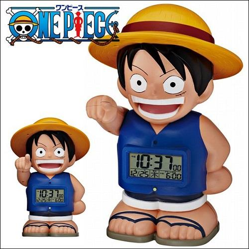 ONE PIECE 8rda50rh04 talking alarm clock Straw Hat Luffy (FROM JAPAN)