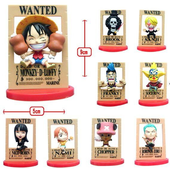 One Piece Pirates Wanted 3D Poster Frame Figure Familymart