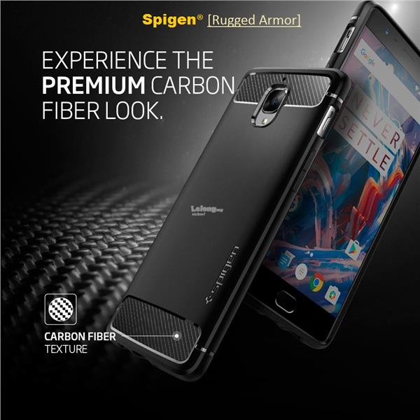 OnePlus 3 Case Spigen Rugged Armor - carbon fiber