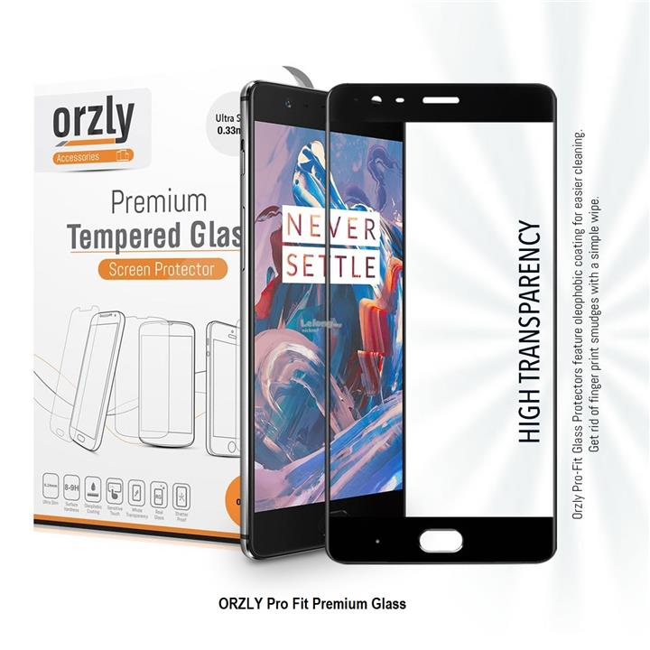 OnePlus 3 Orzly 2.5D Pro-Fit Tempered Glass ( Upgraded Version)