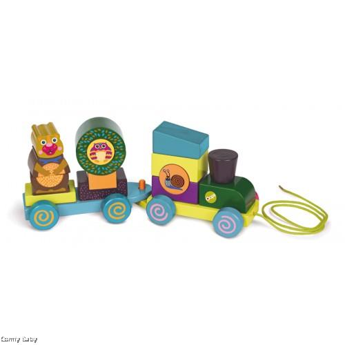 Oops FUN FOREST TRAIN! WOODEN ACTIVITY TRAIN
