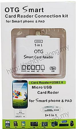 OOREE MICRO USB OTG SMART CARD READER FOR SMARTPHONE (D-325)