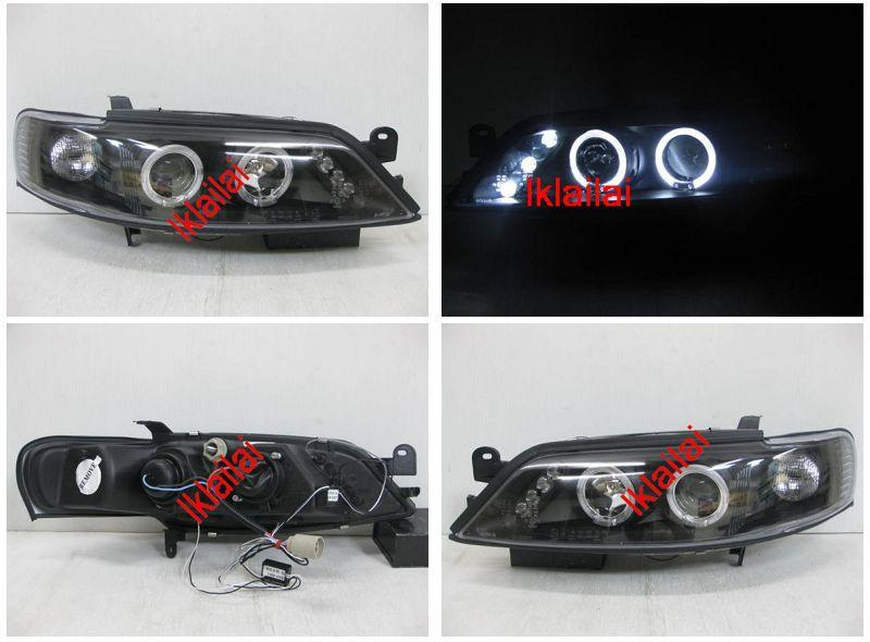 OPEL Vectra B '96-99 Projector LED Head Lamp +3 LED [Black Housing]