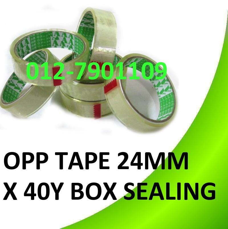 OPP TAPE 24mm (1�) * 40Yards (36meter) Box Sealing Packing Tape 3rolls