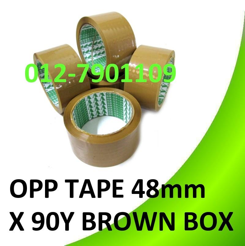 "OPP TAPE 48mm (2"") * 90Yards Brown Box Sealing Packing Tape 3 rolls"