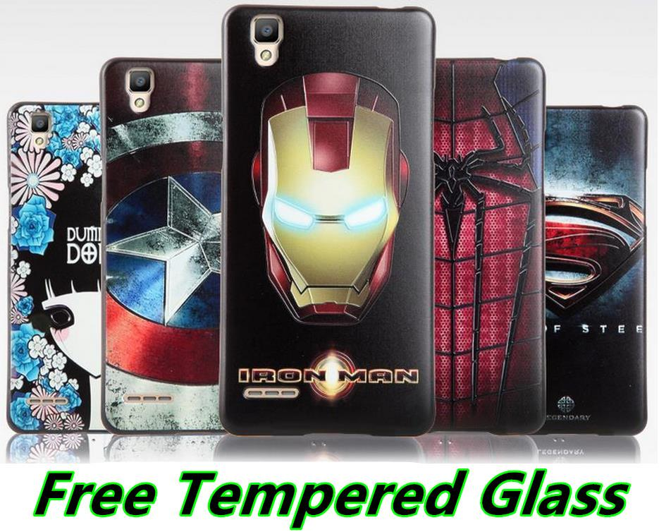 OPPO F1 A35 3D Relief Silicone Case Cover Casing +Free Tempered Glass