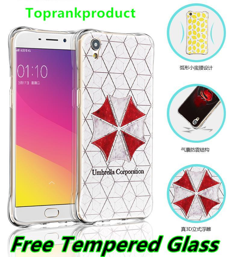 OPPO F1 Plus 3D ShakeProof Silicone Case Cover Casing + Tempered Glass