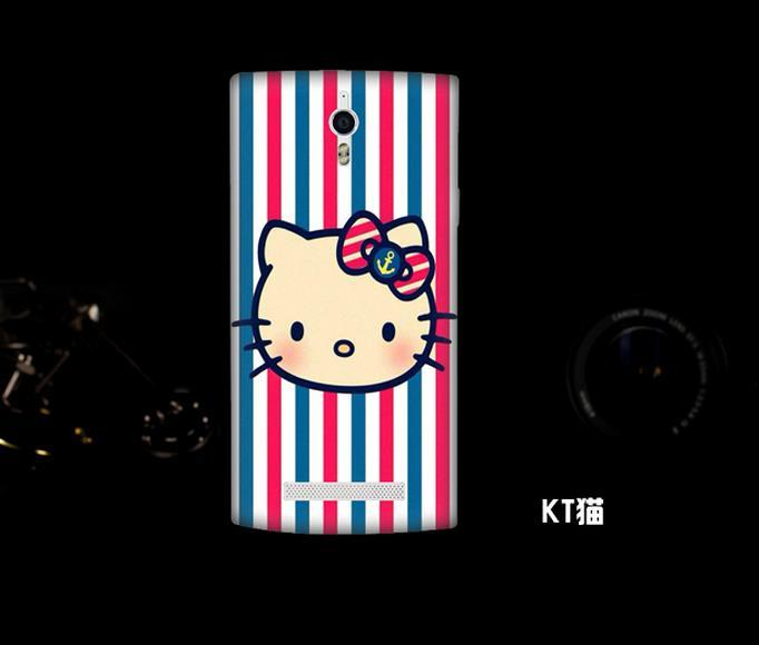 OPPO Find 7 7A Cartoon Hard Back Case Cover Casing + Free Gift