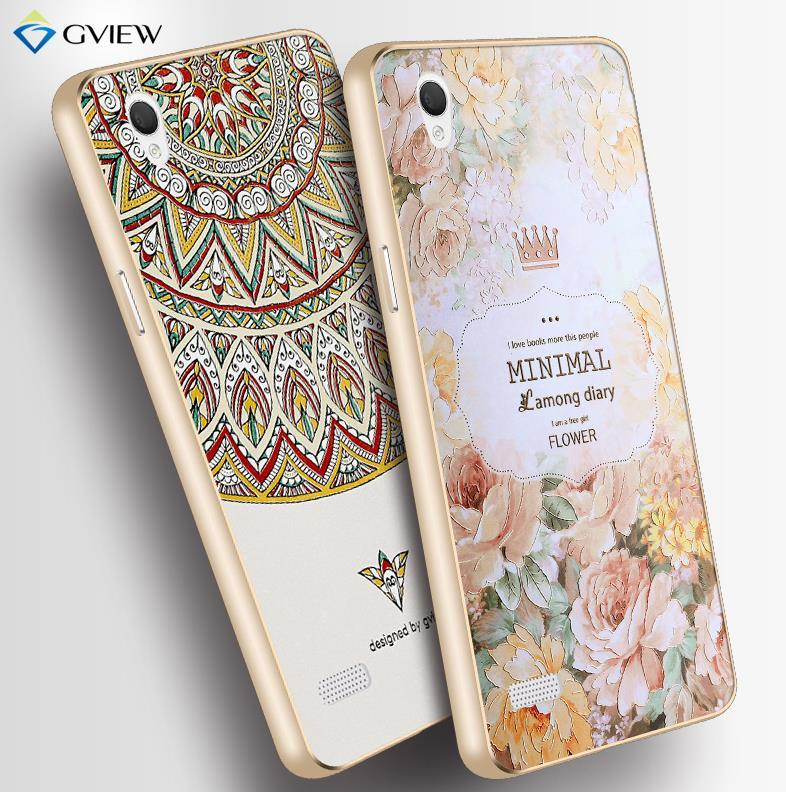 OPPO Mirror 5 5S A51 3D Relief & Metal Bumper Case Cover Casing + Gift