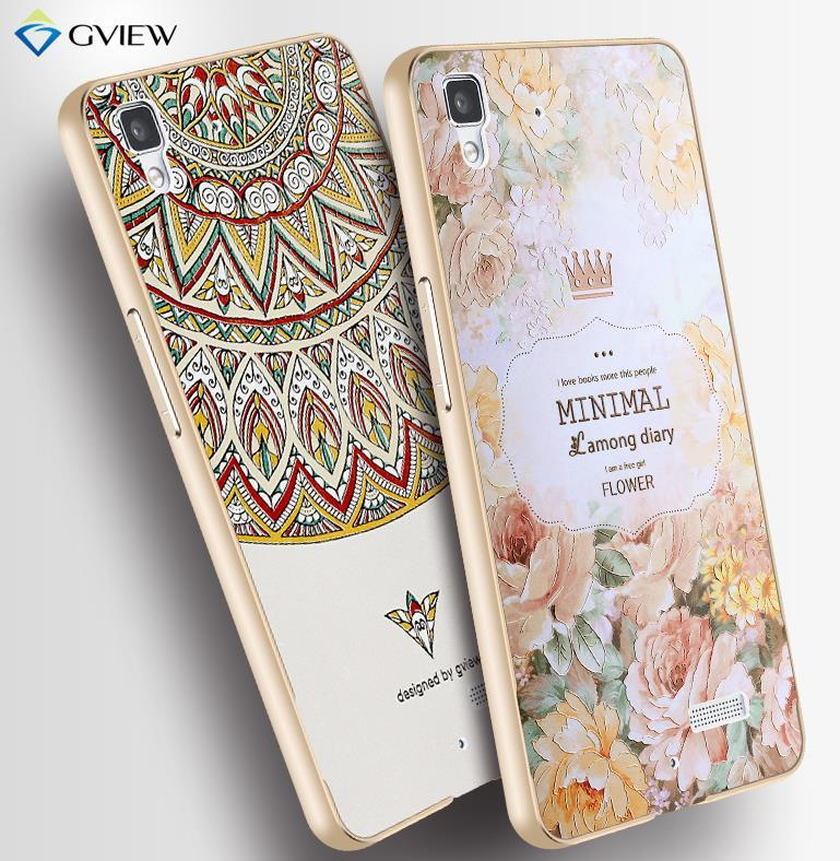 OPPO R7 / Lite 3D Relief & Metal Frame Case Cover Casing + Free Gifts